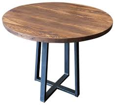 round industrial reclaimed wood pub table industrial indoor pub and bistro tables by what we make