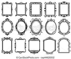 Vintage Victorian Baroque Rococo Frame For Mirror Menu Card