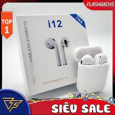 Tai nghe Tai nghe bluetooth Tai nghe không dây Tai nghe bluetooth i12 Vỏ  bảo vệ Bao đựng Case Airpod 1/2 - Tai Nghe Bluetooth Nhét Tai