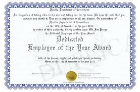 Employee Of The Quarter Certificate Employee Recognition Award Template Of The Year Quarter