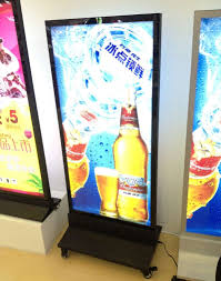 Led Light Box Display Stand Restaurant Outdoor Stand LED Menu Boards Movable Double Sided 18