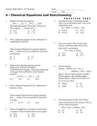 glamorous 4 chemical equations and stoichiometry 015569690 1 aa5c7dc453e2ca870609462b0e5 chemical equations and stoichiometry worksheet answers worksheet
