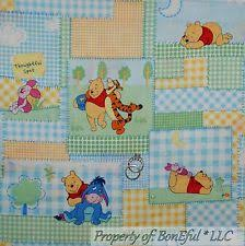 Winnie The Pooh Quilt Fabric | eBay & BonEful Fabric FQ Cotton Quilt Winnie the Pooh Baby Girl Boy Gingham S  Patchwork Adamdwight.com