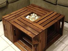 brown square coffee table shaker