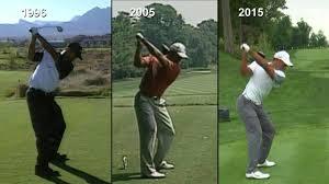 Tiger Woods swing analysis: 1996 vs. 2005 vs. 2015