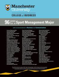 Sports Management Careers 96 Potential Careers For A Sport Management Major Careers