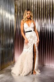 Kevan Jon Priscilla Ball Feather Dress – Joi Boutique