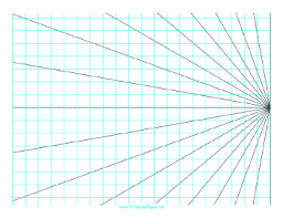 This Perspective Grid Paper Is Formatted With One Point At