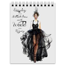 <b>Printio Блокнот Black fashion</b> dress | proretsepty.ru