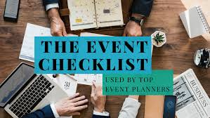 Party Planning Lists The Event Planning Checklist Used By Top Event Planners