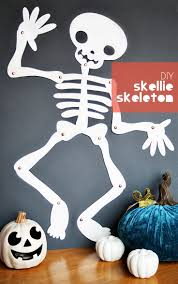 DIY Halloween Skellie Skeleton Printable crafts for kids made with Cricut  Explore