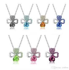 2019 fashion crystal necklace lucky clover pendant women s alloy anti allergic jewelry yp106 arts and crafts pendant with chain from yisilian