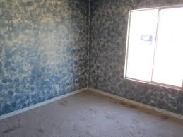 bad ugly blue sponge paint job bedroom wall phoenix arizona home house photo
