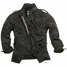 jacket surplus regiment m65 black camo