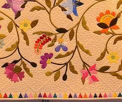 Dubai Floral Applique Quilt detail | The Curious Quilter & Dubai Floral Applique Quilt detail Adamdwight.com