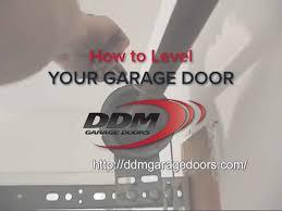 ddm garage doorsHow to Level Your Garage Door  YouTube