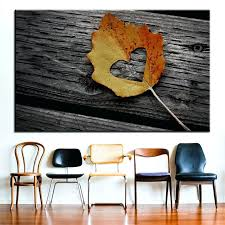 large size printing oil painting heart leaf autumn wall decor art picture for living room no autumn bicycle wooden wall decor sunset