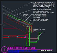 metal standing seam roofing comfortable roof gutter detail cad files plans and details metal standing seam