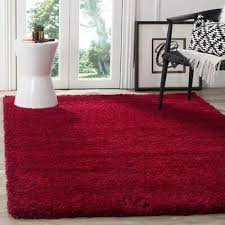 solid cozy red area rug rugs 8 x 10 4 6 5 8