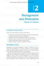 motivation in regards to management