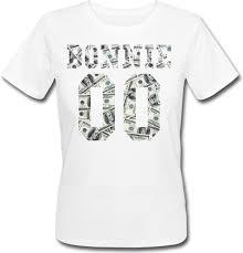 Женская именная футболка BONNIE - Money (принт спереди) [Цифры ...