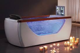 eago am195 6 right drain rectangular free standing air bath tub with tv screen expressdecor com