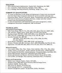 Telecommunications Network Engineer Sample Resume Network Field