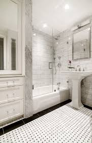 classic white bathroom ideas. Plain Classic Grey And White Bathrooms Black Basketweave Tile Kohler Sink Classic  Small New York City Bathrooms And Bathroom Ideas O