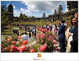 berkeley rose garden ceremony on wedding day