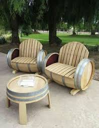 Cool patio furniture Poolside So Cool Patio Furniture Made From Wine Barrels Pinterest So Cool Patio Furniture Made From Wine Barrels Home Sweet Home