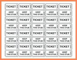 Numbered Raffle Ticket Template Free 280148499983 Free Numbered