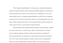 marijuana article rhetorical analysis why i support legal  document image preview