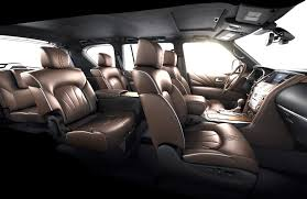 infiniti qx80. infiniti qx80 limited luxury suv - three rows of seats interior qx80