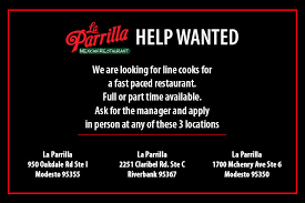 we are looking for line cooks for a fast paced restaurant