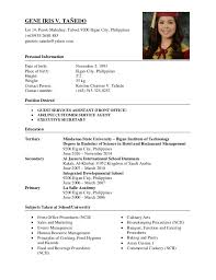 resume formats for teachers