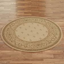 regent fleur de lis round rug