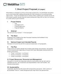 Example Of Project Proposal Format – Jumpcom.co – Template Ideas