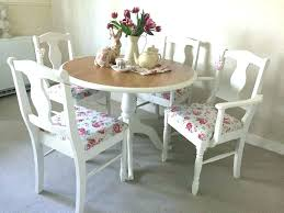 shabby chic dining table and chairs set round farmhouse dining table and chairs shabby chic dining
