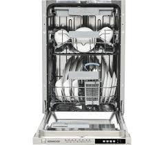 Slimline Kitchen Appliances Buy Kenwood Kid45s16 Slimline Integrated Dishwasher Free