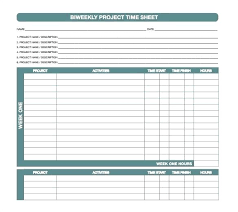 Job Timesheet Template Excel Project Biweekly Download In Weekly ...