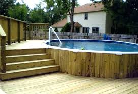 Above Ground Swimming Pool Deck Designs Cool Ideas