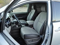 like most minivans the kia sedona provides comfortable front seating and an impressive view out