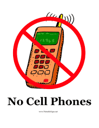 No Cell Phones Sign Printable Printable No Cell Phones Sign