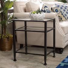 Coffee Table Southern Enterprises Black Metal End Table Hayneedle