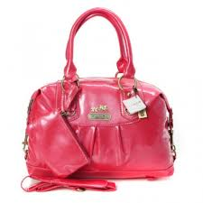 Coach Madison In Smooth Medium Red Satchels BLX