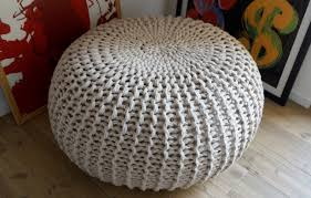 Knitted Pouf Pattern Magnificent Decorating