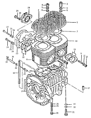 new and used engines exploded drawing of engine