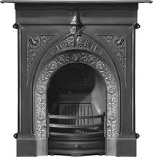 carron cast iron combination fireplaces in a traditional victorian art nouveau or gothic style are