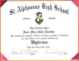 High School Diploma Certificate Fancy Design Templates Template