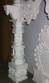 Thermocol Pillar Design Thermocol Makhar On Behance Ganpati Decoration Ideas
